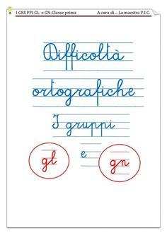 difficoltà ortografiche | PDF Flipbook Language Lessons, Grade 1, Math Equations, Teaching, Writing, Education, School, Books, Languages