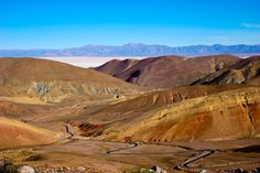 The third largest salt flat in the world off in the distance - Salta Argentina Bolivia, Ecuador, Peru, Chile, Distance, Beautiful Places, Mountains, Landscape, World