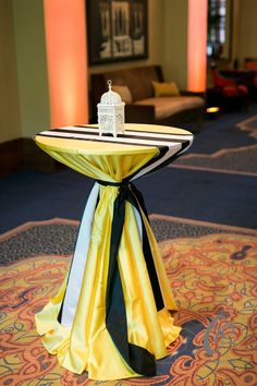 Yellow Lamour and the Shadow Stripe make for a bold statement