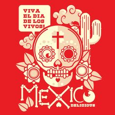 tags: illustration, typography, skull, mexico  ethanllewis:    uberjunkie:    Skull of the day