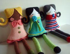 crochet idea for square dolls ♥!