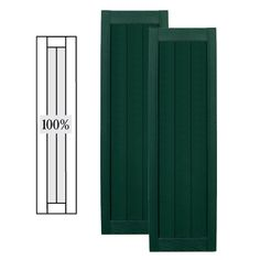 Vantage 2 Pack Paintable Board And Batten Vinyl Exterior Shutters (Common:  14 In X 80 In; Actual: 14.0312 In X 79.875 In | Exterior Shutters And Batten