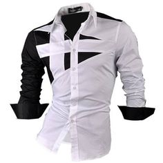 Gender: Men Item Type: Shirts Pattern Type: Patchwork Sleeve Style: Regular Brand Name: HI-Man Style: Casual Closure Type: Single Breasted Fabric Type: Broadcloth Material: Cotton Collar: Turn-down Co