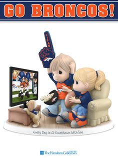 The Denver Broncos are ready to steamroll the competition! Cheer on their valiant efforts with this Precious Moments Figurine.