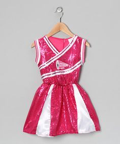 Hot Pink Cheerleader Dress - Toddler & Girls