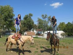That thing on the horse is what I call my bestfriend.(: