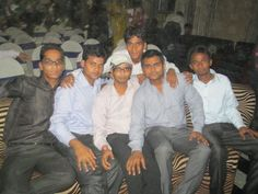 Vipin Yadav whis friends in College Function.