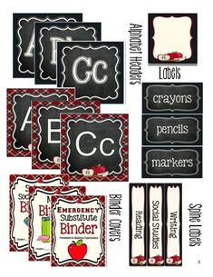 Amazing Classroom Essentials - Sweet Apple DesignThis packet includes everything you will need to set-up your classroom this school year. This packet is overloaded with over 470 classroom essentials! From Bulletin Board Letters to Pocket Chart Cards. The fun and vibrant design with a deep red plaid backdrop, beige background and chalkboard accents will simplify your life and allow you to customize the pieces you need from year to year.