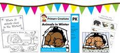 Tot School, Preschool, PreKinder and Kinder Tot School, Winter Theme, Preschool Crafts, Learning Activities, Worksheets, Sleep, Christmas, Animals, Xmas