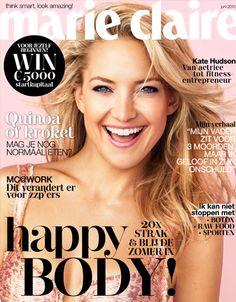 Kate Hudson op de cover van Marie Claire juni, 2015
