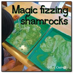 Magic fizzing shamrocks from Gift of Curiosity