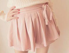 Asian Fashion Cute Pink Skirt