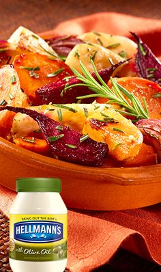 A savory roasted root vegetable side for the holidays - made with our Hellmann's Mayonnaise Dressing with Olive Oil. Let's get to roasting!