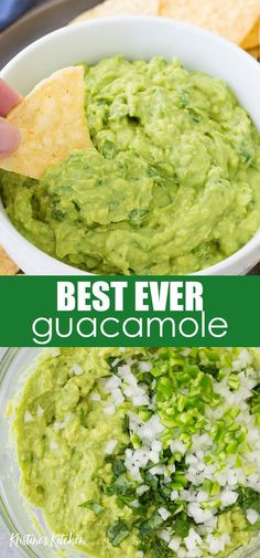 The BEST Guacamole Recipe (+ Tips)! My easy guacamole recipe requires just a few simple, fresh ingredients. Making authentic guacamole doesn. Salsa Guacamole, Guacamole Recipe Easy, How To Make Guacamole, Authentic Guacamole Recipe, Ingredients For Guacamole, Recipes For Guacamole, Guacamole Recipe Without Tomato, Simple Avocado Recipes, Gourmet