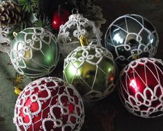 Tatted Christmas Ball Decorations