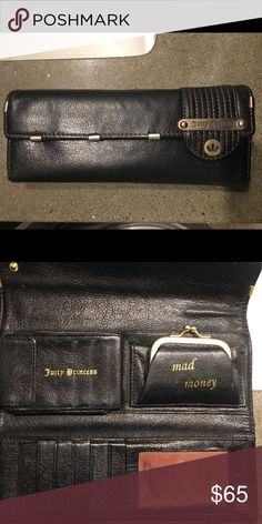 Juicy Couture Tri Fold Black Wallet Used, still in good condition. Light wear, very minimal blemishes Juicy Couture Bags Wallets