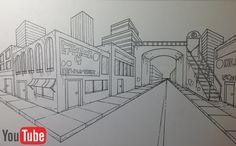 Perspektive mit 2 fluchtpunkten futuristisches geb ude unterricht perspektive pinterest - Architekturzeichnung lernen ...