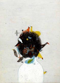 illustration by Violeta Lopiz for Les Poings Sur Les Iles written by Élise… Art And Illustration, Art For Art Sake, Art Graphique, Art Design, Bird Art, Storyboard, Oeuvre D'art, Painting & Drawing, Images