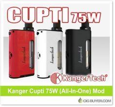 Kanger Cupti 75W Box Mod – $37.99: http://www.cigbuyer.com/kanger-cupti-75w-box-mod/ #ecigs #vaping #kanger #kangertech #cuptimod #vapelife #vapedeals
