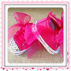 BLiNG BLiNG BABY SHOES So Cute Newborn Ready to Ship 6-12 months 12-18 months by BabyCakesByBella, $39.95