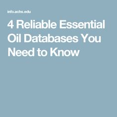 4 Reliable Essential Oil Databases You Need to Know