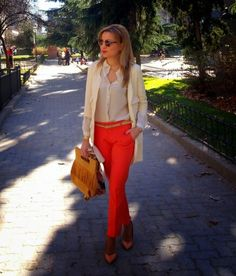 Spring outfit: casual look with Orange pants