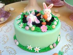 43 Easter cakes that make your mood cheerful fancy cakes green easter bunny flowers easter eggs 43 Ostertorten, welche Ihre Stimmung heiter machen 17 Source by lburberry Food Cakes, Cupcake Cakes, Rabbit Cake, Easter Cupcakes, Easter Cake, Birthday Cake Decorating, Cake Decorating Techniques, Easter Treats, Fancy Cakes