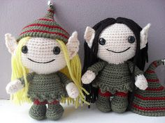 Elfy the Elf Crochet Pattern ~ $4.99 ~ K and J Dolls / K and J Publishing