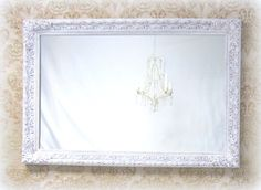 DECORATIVE VINTAGE MIRROR Shabby Chic Mirror by RevivedVintage, $214.00