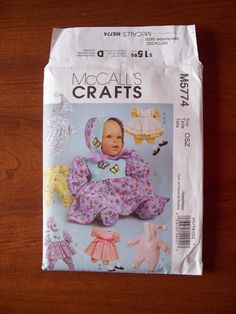 5774 McCall's Crafts Baby Doll Clothes for 11 13 and by LuvLynda, $3.00