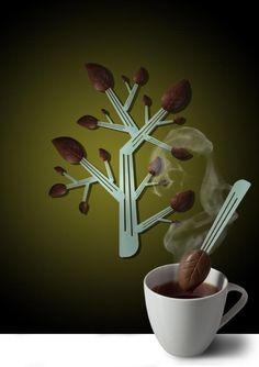 """""""Chocolate leaf"""" design by Katarína Komarová"""