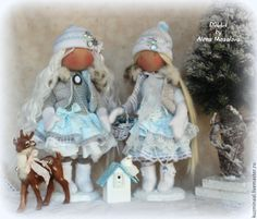 Купить WINTER STORY... Коллекционные куклы - голубой, зима, валенки, зимний аксессуар