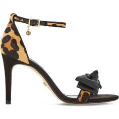 Dune Moella leopard print sandals (€78) ❤ liked on Polyvore featuring shoes, sandals, leopard shoes, monk-strap shoes, leopard sandals, dune sandals and strap sandals