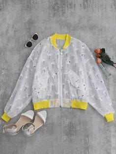 SHARE & Get it FREE   Crane Color Block Sunblock Baseball Jacket - YellowFor Fashion Lovers only:80,000+ Items • New Arrivals Daily Join Zaful: Get YOUR $50 NOW!