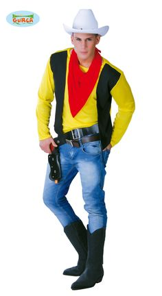 Cowboy+pyssysankari Lucky Luke, Costume, Cowgirls, Motorcycle Jacket, Villa, Shirts, Fitness, Jackets, Outfits