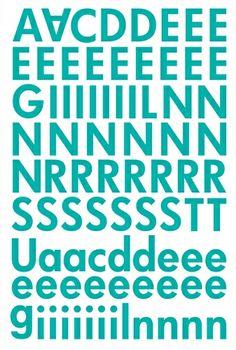 "Alphabet Sticker ""Lisa"" – aquamarin (Ergänzung)"