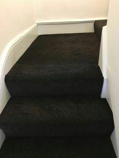 Dark carpet on a landing