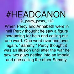 Crossover with Supernatural<<Oh. My. GOD!! No way nope nope nope........fine headcanon excepted.