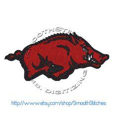 Arkansas Razorbacks Football Design for Embroidery Machine - Instant Download