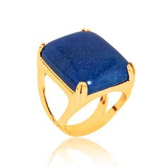 Almojewellery - 18ct Gold Plated Ring with Square Blue Agate Gemstone, £23.50 (http://www.almojewellery.com/wholesale/gemstone-jewellery/rings/amwrsan00244/18ct-gold-plated-ring-with-square-blue-agate-gemstone/)