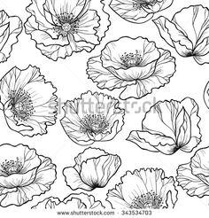 jasmine flower outline drawing - Google Search