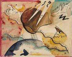 "Wassily Kandinsky ""Rain Landscape"" 1911; Watercolor on paper"