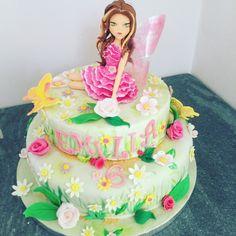 Fata di primavera, flora cake topper
