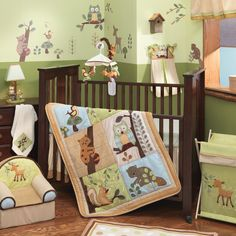 Lambs & Ivy Beige Enchanted Forest Crib Bedding Collection   Wayfair