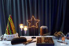 Mesa dulce fiesta de fin de año