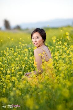 Spring Portrait. love the field of flowers