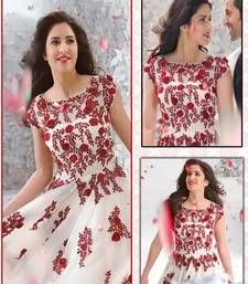Buy cream embroidered net semi-stitched salwar with dupatta bollywood-salwar-kameez-online online
