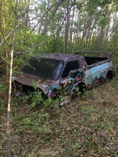 Custom VANS natural BABES & other bad ass transportation. Junkyard Cars, Abandoned Cars, Abandoned Vehicles, Forgotten Treasures, Rust In Peace, Rusty Cars, Sad Pictures, Custom Vans, American Muscle Cars