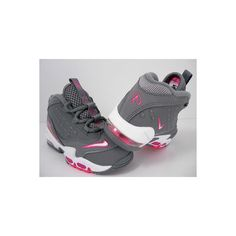 972ace7b72 NIKE AIR GRIFFEY MAX II GIRLS TODDLER GREY-PINK SZ 6C (443959 006) found on  Polyvore