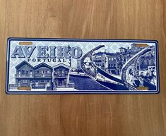 AVEIRO | License Plate Cities Tourism PORTUGAL - Metal Sign Vintage Decor (new) #Unbranded #VintageRetro Duck Egg Blue Wall, Plate, Vintage Decor, Retro Vintage, Vintage Metal Signs, Tin Signs, Vintage Travel, Decoration, New Art